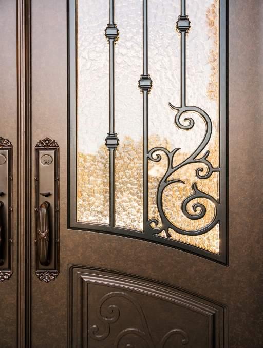 Antique Bronze Door Finish