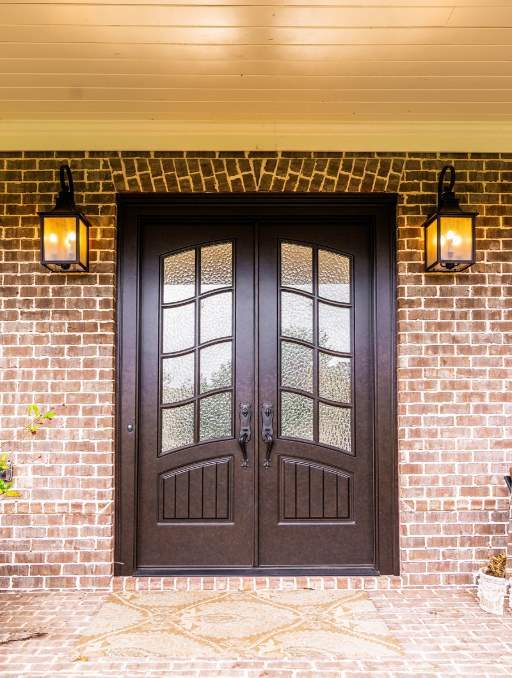 Front-Entry-Door-Classic-French-3-Beautiful-Custom-Dark-Double-Rectangular-door-with-Monumental-glass-and-Emtek-Locksets