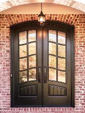 Front-Entry-Door-Classic-French-3-Beautiful-Custom-Dark-Double-Rectangular-door-with-Monumental-glass-and-Emtek-Locksets