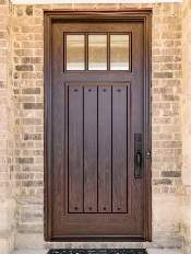 Front-Entry-Door-Craftsman-6-Beautiful-Custom-Bronze-Single-Rectangular-door-with-Privacy-glass-and-Emtek-Locksets