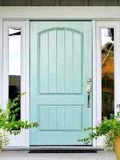 Front-Entry-Door-Solid-6-Beautiful-Custom-Teal-Single-Rectangular-door-with-Privacy-glass-and-Side-Lights