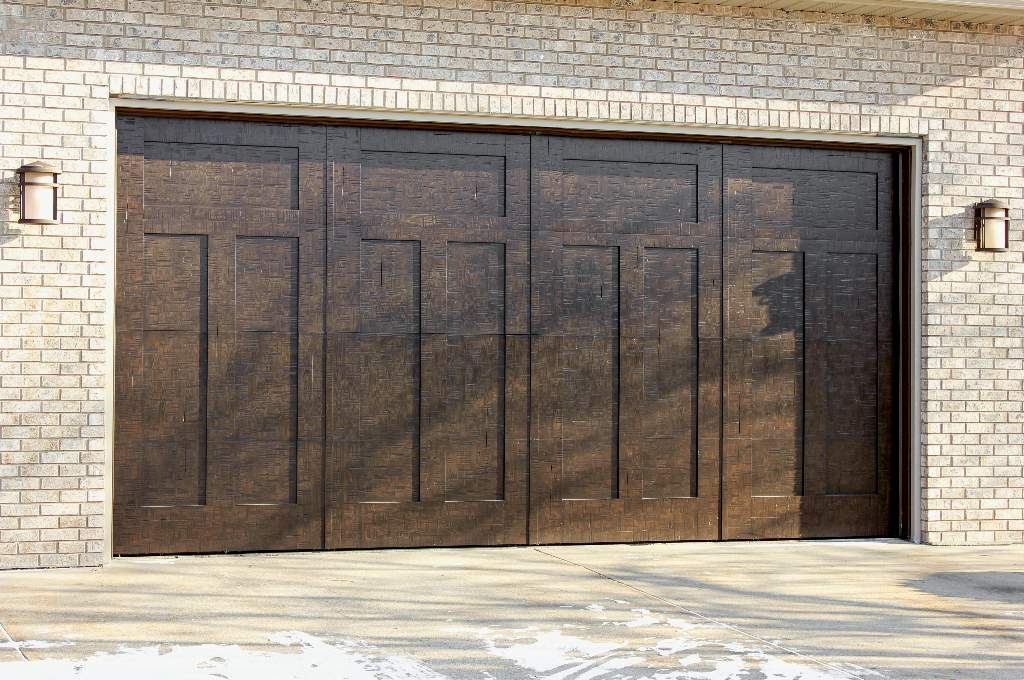 Garage Door Beautiful Custom Rustic Iron Style Dark Double Garage Door With Design Pattern 7