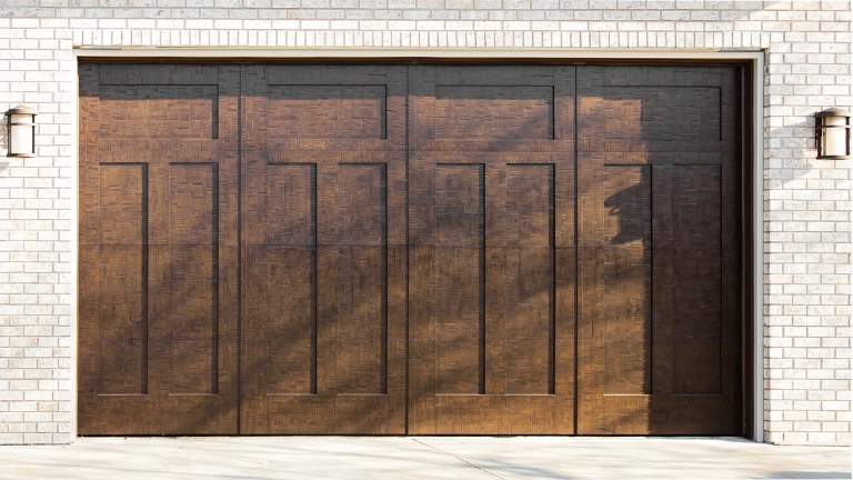 Garage Door Beautiful Custom Rustic Iron Style Dark Double Garage Door With Design Pattern 8 contemporary