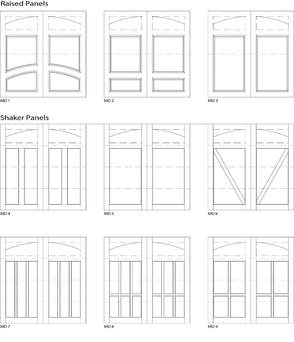 Garage 1 Door Designs - Customizable Size, Shape and Styles Based on Preference