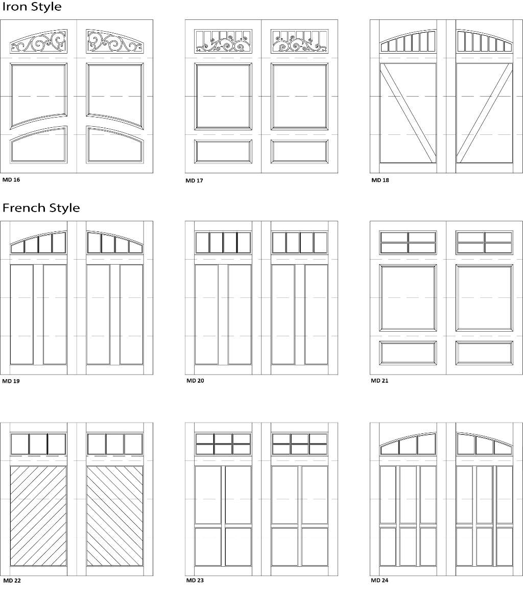 Garage 2 Door Designs - Customizable Size, Shape and Styles Based on Preference