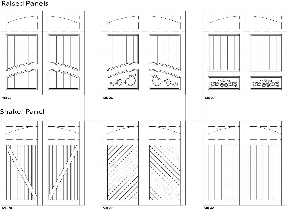 Garage 3 Door Designs - Customizable Size, Shape and Styles Based on Preference
