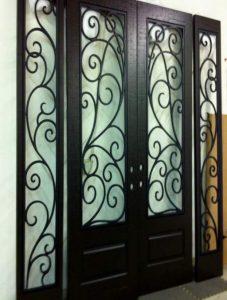 Iron Style-Front-Entry-Door-Montelucci-2-Beautiful-Custom-Dark-Double-Rectangular-door-with-No-Glass-and-Swirl-Pattern.jpg_191125020026