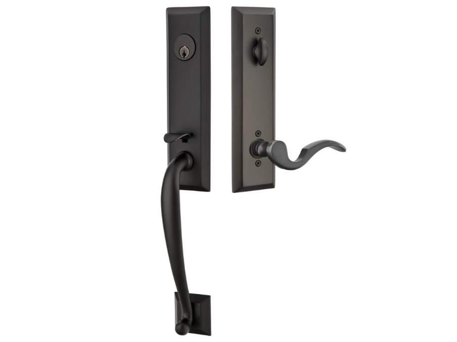 Adams Black Door Locksets