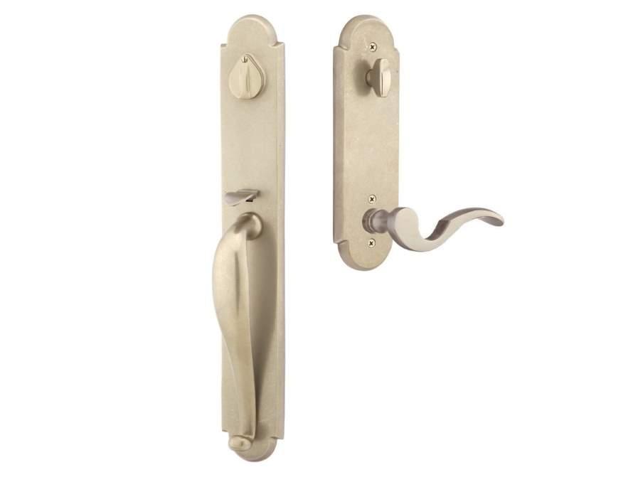 Door Locksets White Tumbled Bronze