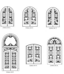 Chateau 1 Door Designs - Customizable Size, Shape and Styles Based on Preference