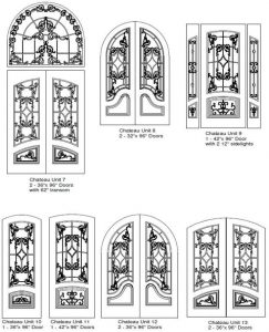 Chateau 2 Entry Door Designs - Customizable Size, Shape and Styles Based on Preference