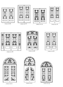 Chateau 3 Entry Door Designs - Customizable Size, Shape and Styles Based on Preference