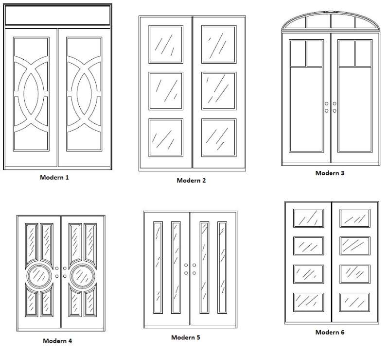 Modern Entry Door Designs - Customizable Size, Shape and Styles Based on Preference