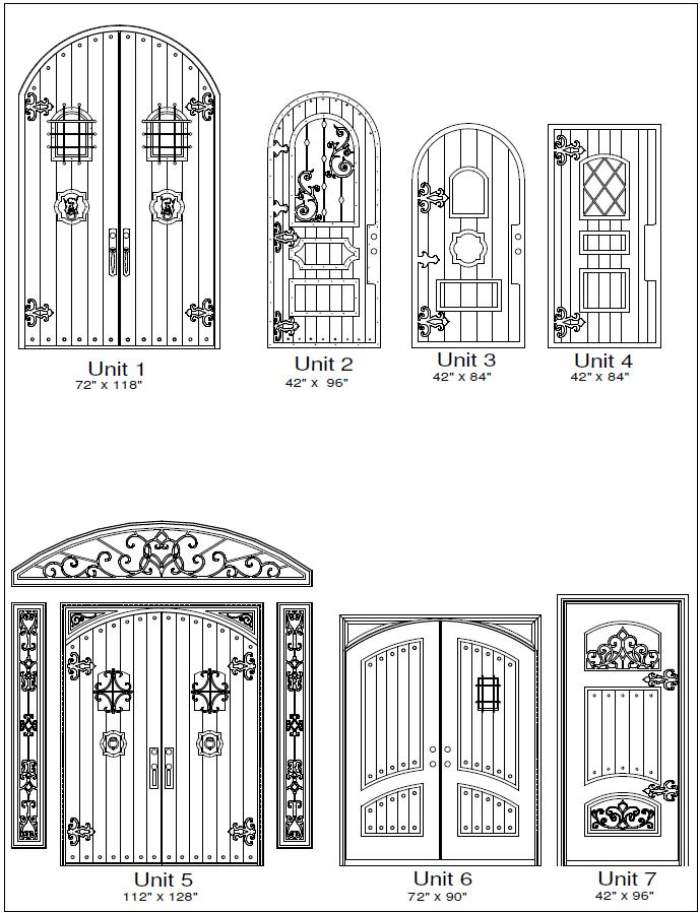 Rustic 1 Door Designs - Customizable Size, Shape and Styles Based on Preference