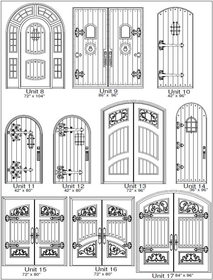 Rustic 2 Door Designs - Customizable Size, Shape and Styles Based on Preference
