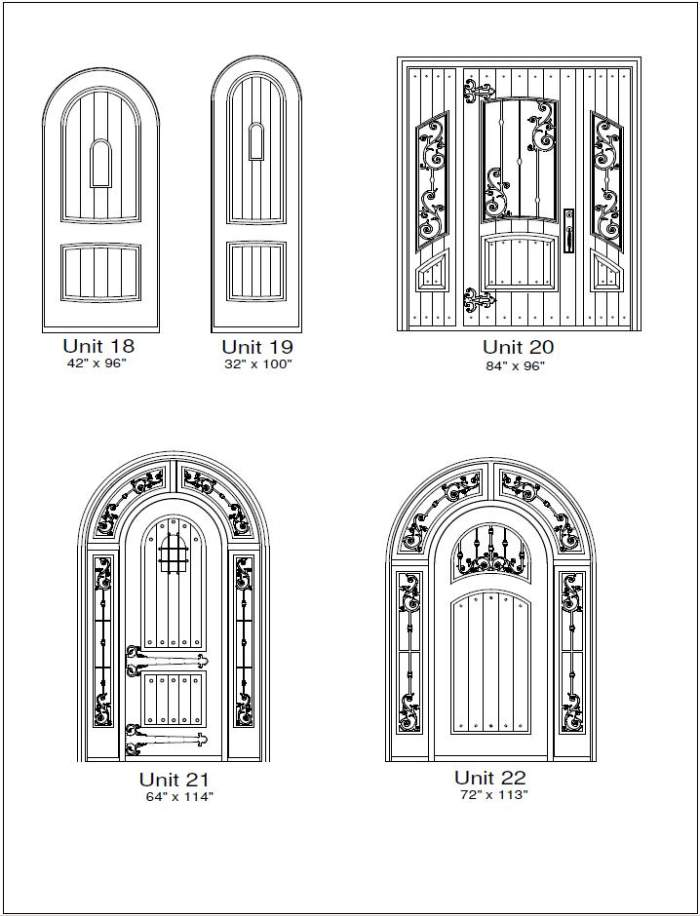 Rustic 3 Door Designs - Customizable Size, Shape and Styles Based on Preference