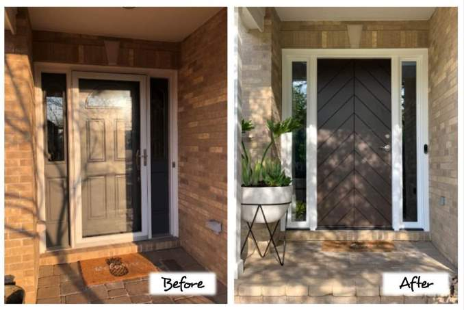 Door Replacement Before and After