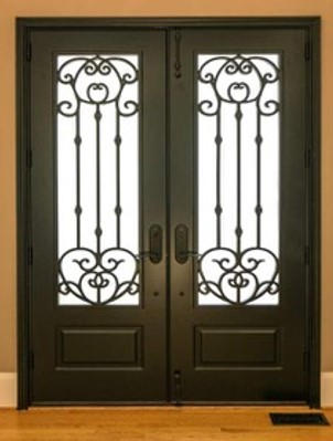 Frosted Glass Entry Door 1