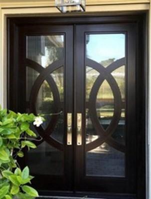 Reeded Glass Entry Door 2