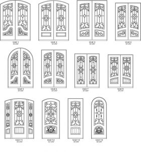 Almaria Iron Style Door Designs - Customizable Size, Shape and Styles Based on Preference