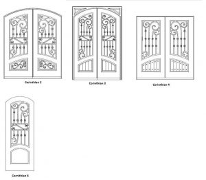 Corinthian Entry Door Designs - Customizable Size, Shape and Styles Based on Preference