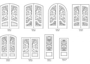 Montelucci Iron Style Door Designs - Customizable Size, Shape and Styles Based on Preference