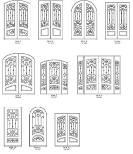 Verailles Iron Style Door Designs - Customizable Size, Shape and Styles Based on Preference