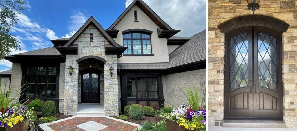french-iron-house-new-Front-Door-masterpiece-doors-entry-garage-house-closeup-2