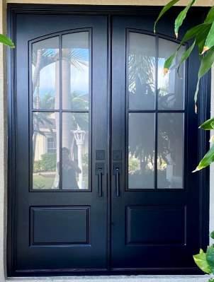 Modern-Farmhouse-Door-Masterpiece-Doors-Entry Door-Front-Door-French-Door-Fronsted